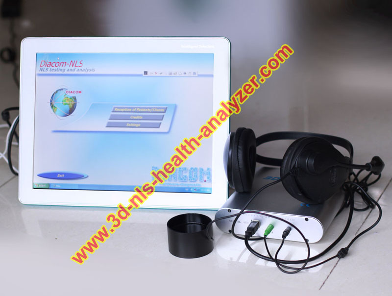 Touch screen laptop style 3D nls analyzer