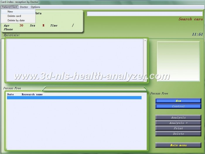 3d nls health analyzer manual pdf